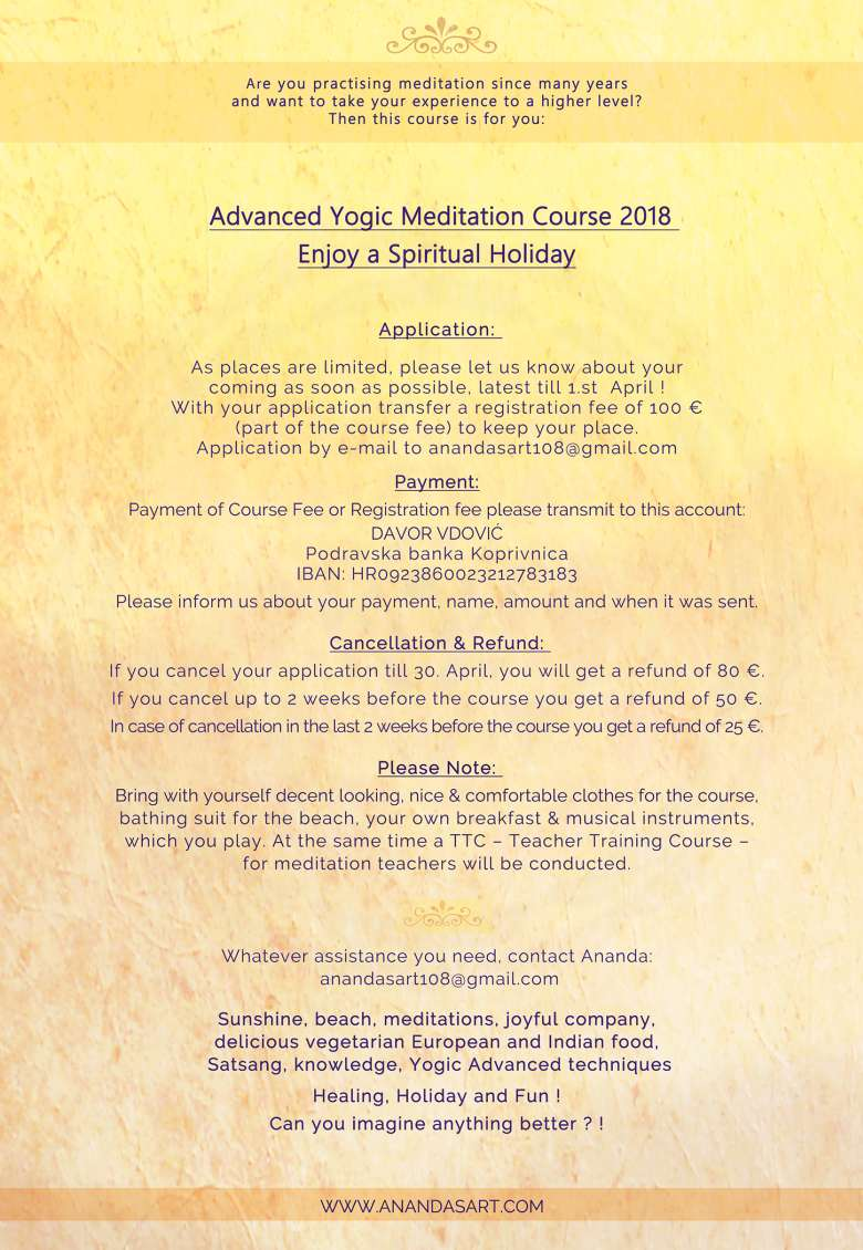 Advanced Yogic Meditation Course