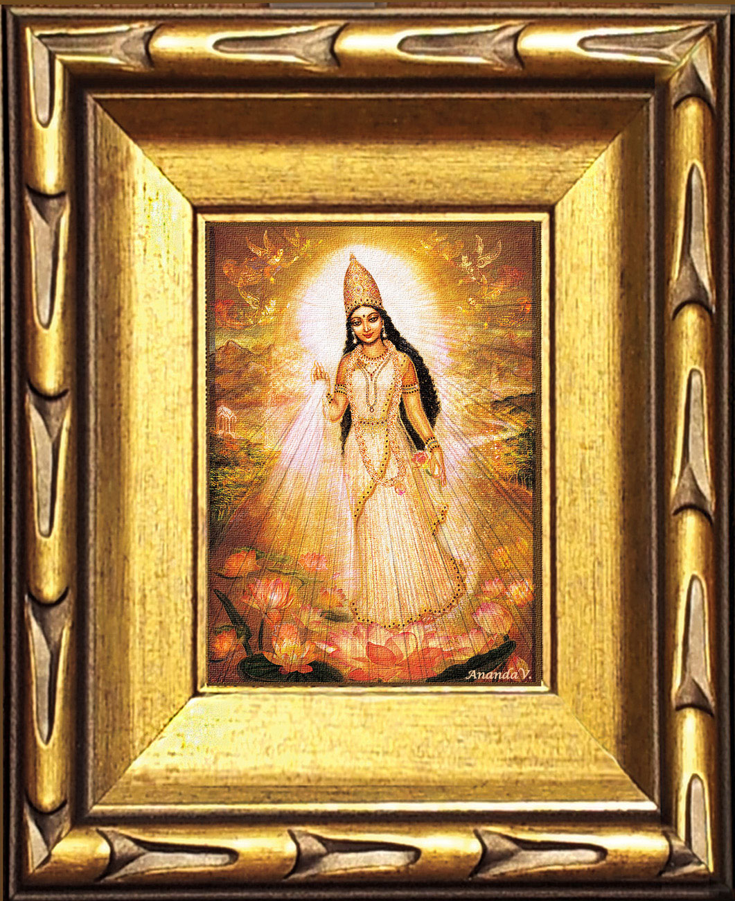 Parashakti Devi - The Great Mother Goddess with Angels