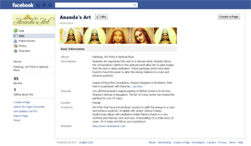 Ananda's Art on Facebook